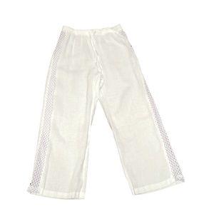 For Cynthia Beachwear linen white pant extra large